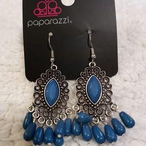 Private Villa Blue Earrings NWT